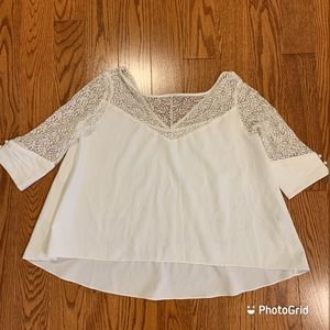 Korean style lace top exposing arms and shoulders